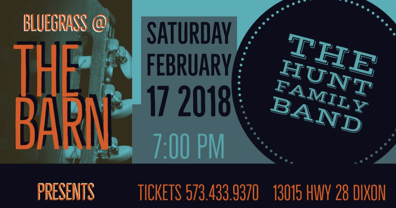 Bluegrass at the Barn – The Hunt Family Band